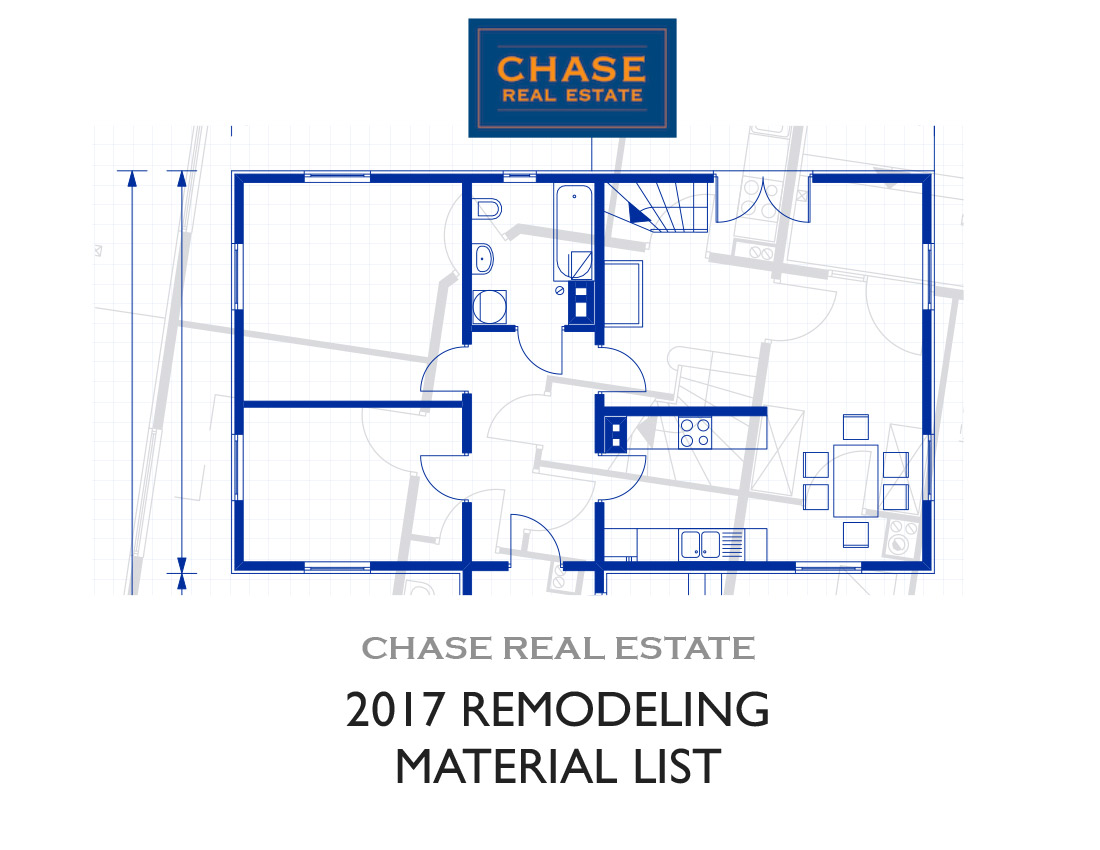 2017 Remodeling Material List - Page 1