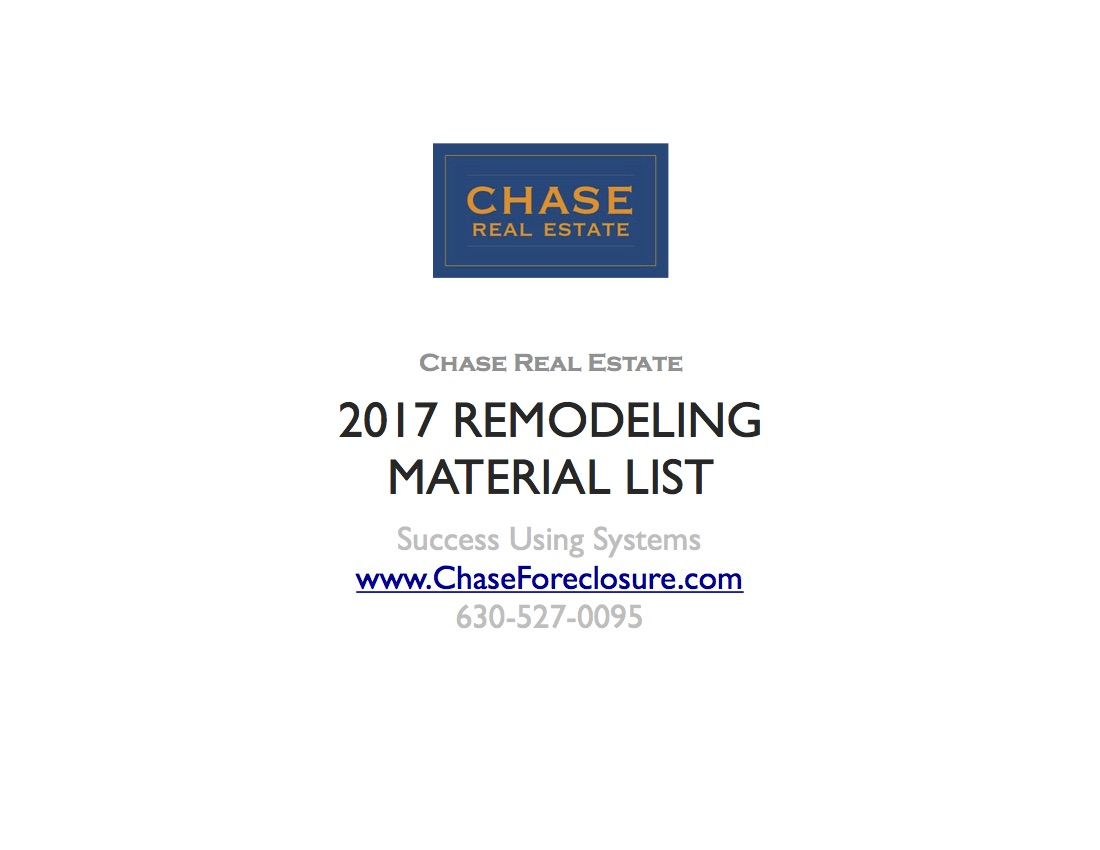 2017 Remodeling Material List - Page 19