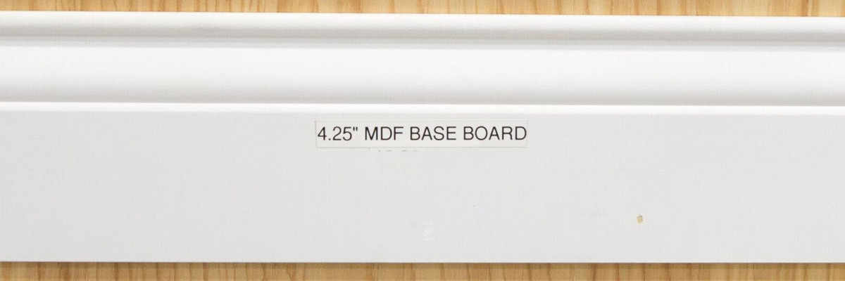 <strong>SKU 1704</strong>: This MDF baseboard trim 4 1/4