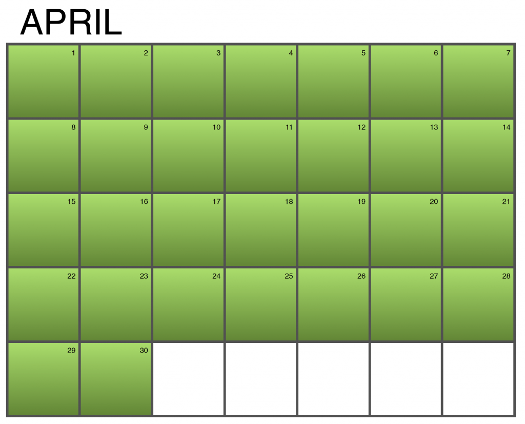Seasonality Calendar - March