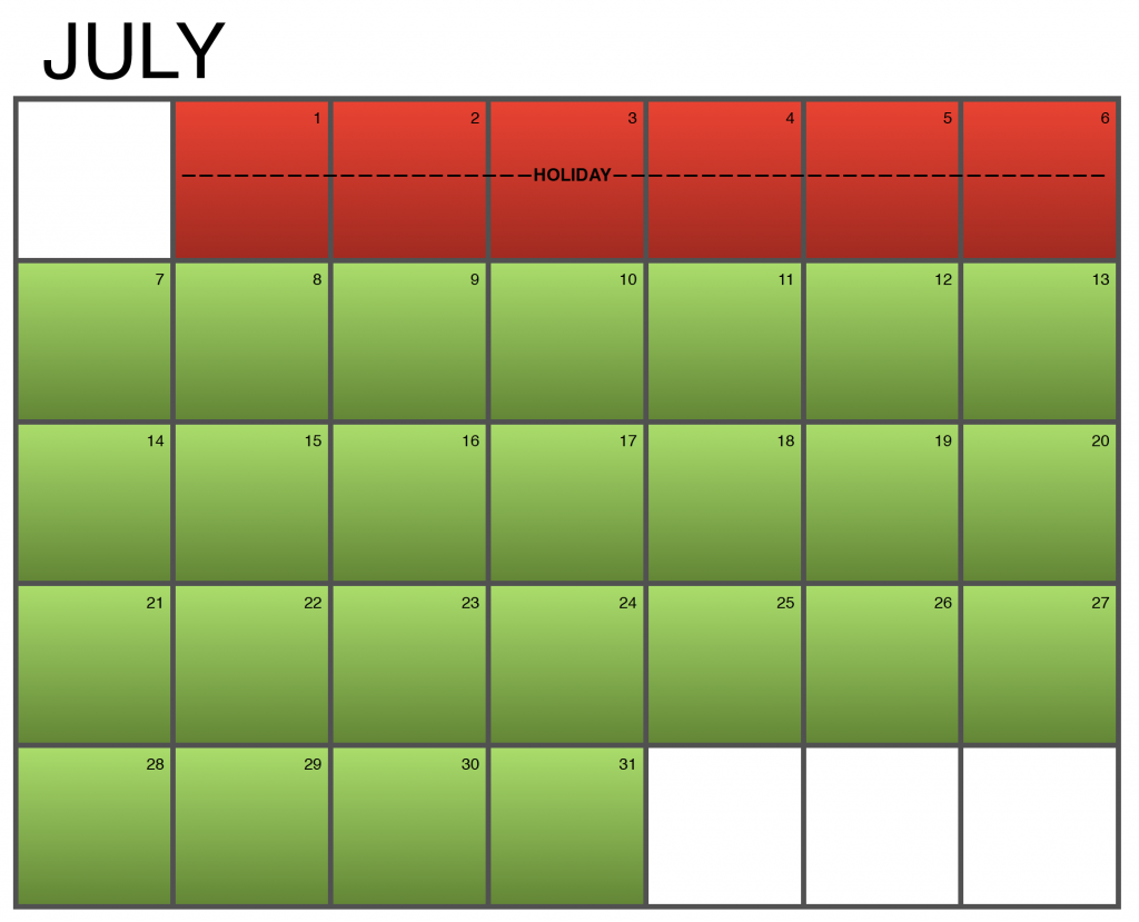 Seasonality Calendar - July