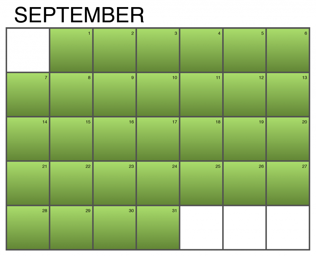 Seasonality Calendar - September